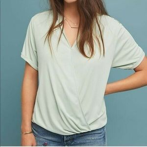 Anthropologie saturday sunday mint green top Sz S